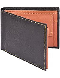 Al Fascino® Black And Tan PU Leather Wallet/Purse For Men