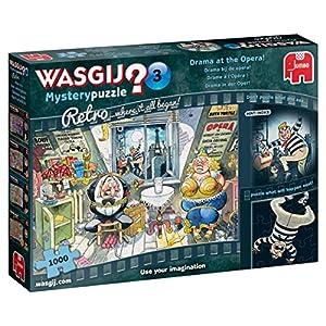 Wasgij Retro Mystery 3 1000 pcs Puzzle - Rompecabezas (Puzzle Rompecabezas, Dibujos, Niños y Adultos, Niño/niña, 12 año(s), Interior)