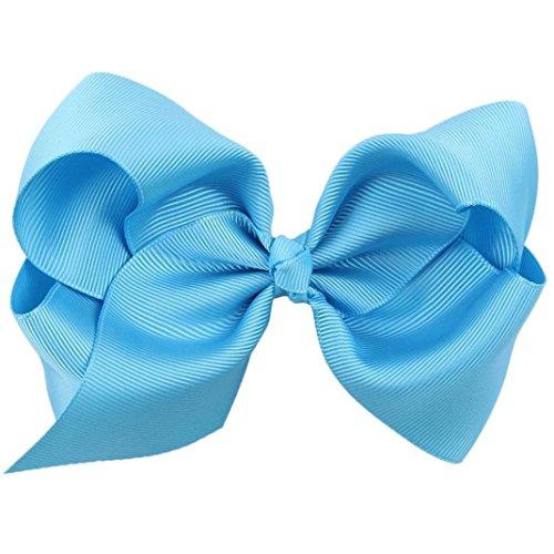 Clip pelo lazo grande niñas azul azul Talla:1