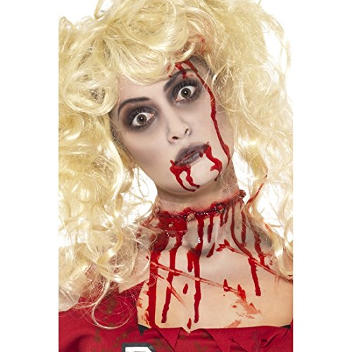 Halloween Schminke Zombie Makeup Set mit Blutkapsel blutige Zombieschminke Monster Make Up Horror Schminke Karneval Schminkset Accessoires Halloweenkostüme Zubehör