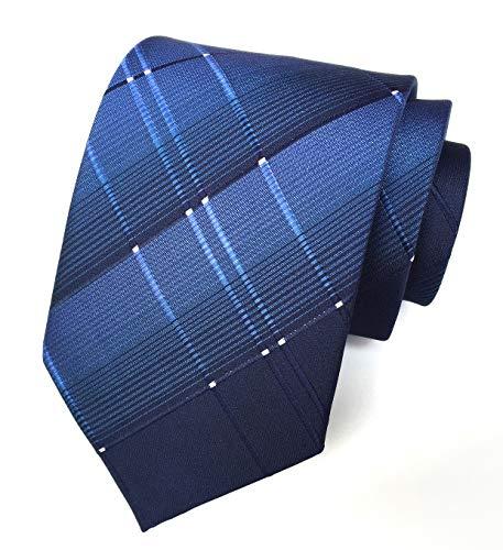 Elfeves Krawatte mit Karomuster, für Herren und große Jungen, 8,4 cm - Blau - Einheitsgröße -