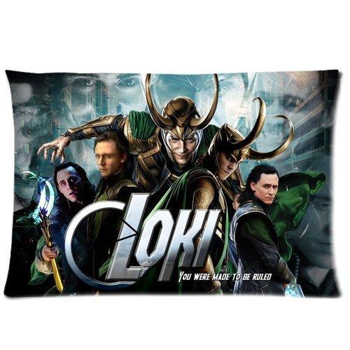 pica Loki Avengers Pattern Custom Rectangle Zippered Pillow Case Cover Pillow Cases Kissenbezüge (35cmx50cm) (Loki Kissenbezug)