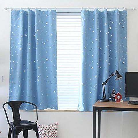 calistous Sterne Patten Schatten Fenster Küche Badezimmer Vorhang Tür Trennwand Sheer Panel Drapes Schal Vorhang blau