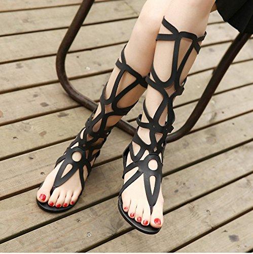Xy & Gk Sapatos Sandália De Verão Salto Alto 36 Preto