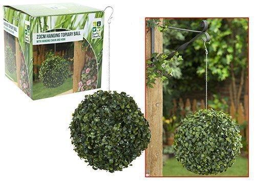 Roots Shoots &23 cm Buchsbaum, Formschnitt, künstlich, zum Aufhängen im Garten