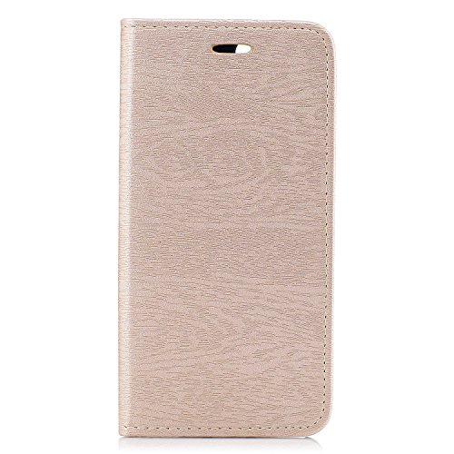 Per iPhone 8 Plus / iPhone 7 Plus Cover , YIGA Tree texture grigio Retro Modello Design Con Book style Internamente Silicone TPU Cover Flip Funzionalità di Supporto cuoio Case in Premium pelle Protett sw-gold