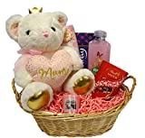 Mothers Day Gift Basket/Hamper for her, Birthday Gift for Mum, Christmas Gift for Mum, Mummy, Chocolate, Teddy, Candle, Bubble Bath