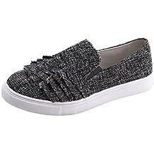 f81ee85a4e89e Zapatos para Mujer Otoño 2018 PAOLIAN Zapatillas de Náuticos Terciopelo  Planos Volantes Suela Blanda Calzado Dama