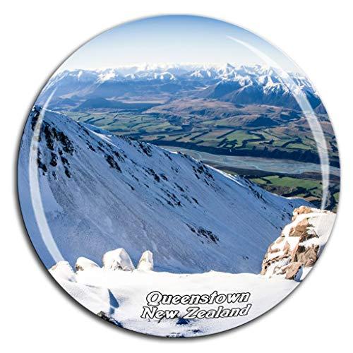 Weekino Coronet Peak Queenstown Neuseeland Kühlschrankmagnet 3D Kristallglas Tourist City Travel Souvenir Collection Geschenk Stark Kühlschrank Aufkleber