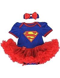 SUPERGIRL set body et bandeau, déguisement bébé 6 à 24 mois 6/9 mois,12 mois,18 mois,2 ans