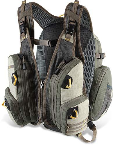 Storfisk fishing & more 2-in-1 Angelrucksack und Angelweste, Rucksack mit diversen Funktionen und vielen Taschen, ideal für Spinn- und Fliegenfischer