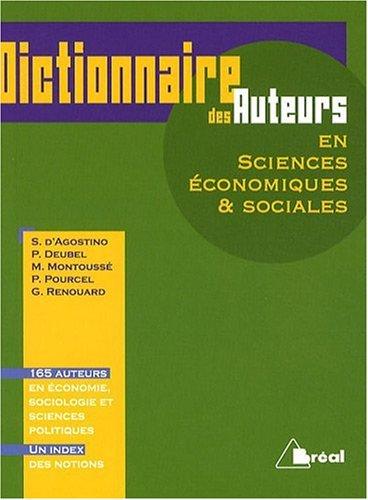 Dictionnaire des auteurs en sciences économiques & sociales par Philippe Deubel