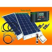 200 Watt Wohnmobil Solaranlage 12 Volt Set mit Steca LCD Laderegler