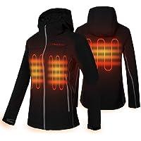 CONQUECO Giacca Termica Riscaldata Elettrica Donna Abbigliamento Riscaldato Giacca Trekking Impermeabile Softshell…