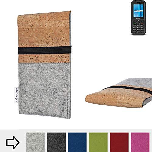 flat.design Handy Hülle SAGRES für Energizer H240S handgefertigte Handytasche Filz Tasche Schutz Case fair Kork