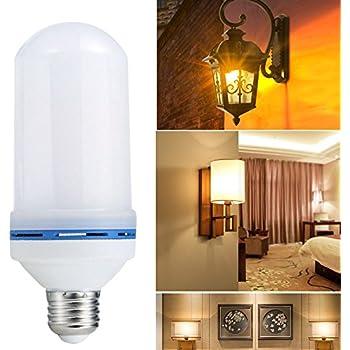 Bombillas LED de llama E27 Creativas con Atmósfera Iluminación, Lámpara Decorativa para Navidad, Festival [Clase de eficiencia energética A]