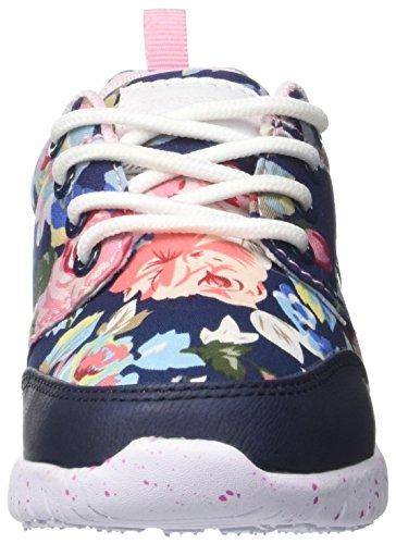 Lumberjack Mädchen Mosh Niedrige Sneaker Multicolore (Blue Flower Multicolor)
