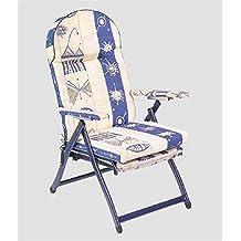 Sillón silla tumbona de acero con alargador extraíble Giusy