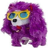 Blue Block Factory Electronic Walking And Barking Plush Puppy Toy, Purple/Yellow