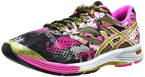 Asics Women's Gel-Noosa TRI 10 GR Running Shoe, Black/Gold/Gold Ribbon, 6 M US