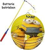 alles-meine.de GmbH 2 TLG. Set: Laterne / Lampion + LED Laternenstab -  Minions - Ich einfach unverbesserlich  - incl. Name - aus Papier - RUND - für Kinder Papierlaterne - LAT..
