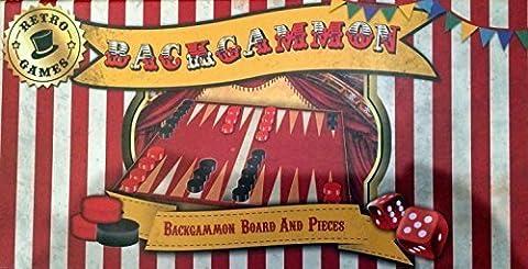 Robert Frederick Retro Games Traditional Backgammon Game (Retro Backgammon)