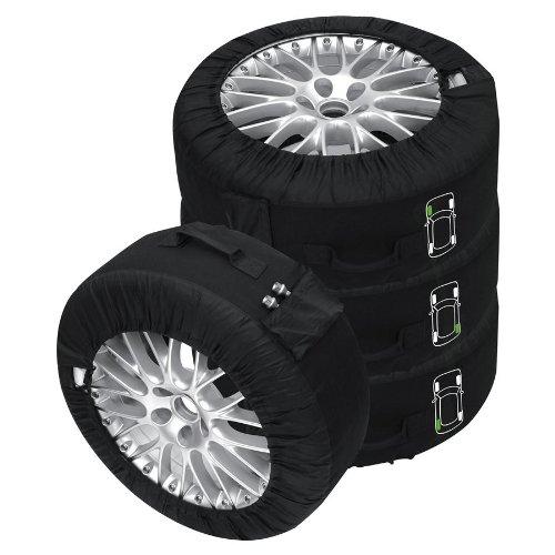 Kit coprigomme premium, colore nero, 4 pezzi Adatto a tutti i tipi di gomme fino a 245 mm (14-18')
