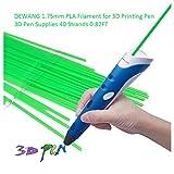 DEWANG 3D-Drucker Filament-40 Str?nge 1.75mm PLA Kunststoff f¨¹r 3D Drucker Zeichnung,Fluoreszenz Gr¨¹n