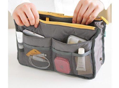 Bes® Handtasche Organizer Tasche BAG IN BAG Einsatz Tidy Travel Cosmetic Tasche Taschen, verschiedene Farben Slate gray Slate gray