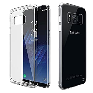 KingShark UltraSlim Transparent Hülle für Samsung Galaxy S8 Plus Silikon Schutzhülle Case Cover
