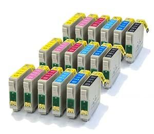 18 Haute Capacité NOUVELLE VERSION Cartouches d'encre 100% Compatibles pour Imprimante Epson Stylus Photo PX800FW