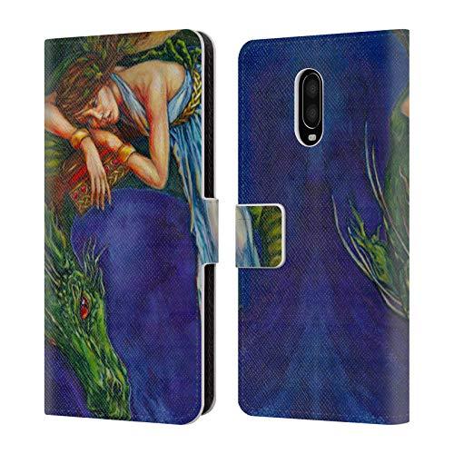 Offizielle Jane Starr Weils Heartbox 1 Drachen Göttern Leder Brieftaschen Huelle kompatibel mit OnePlus 6T (Jane Drache)