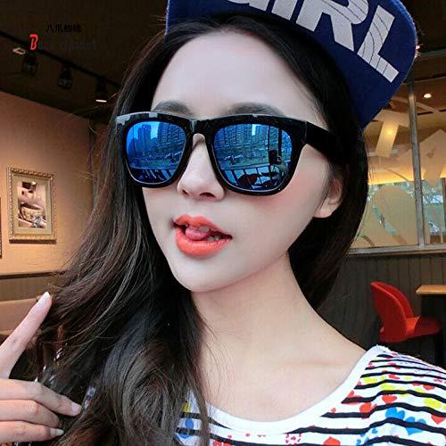 CYCY Mode koreanische Sonnenbrille Männer und Frauen Sonnenbrille Flut Brille schwarzen Rahmen grauen Gläsern, schwarzen Rahmen blauen Quecksilber