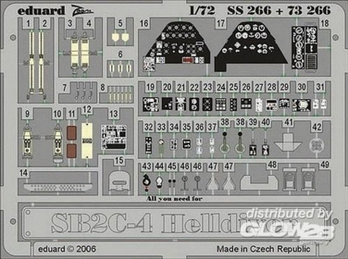 Eduard Accessories SS26630502000sb2C de 4Helldiver para Montar Academy