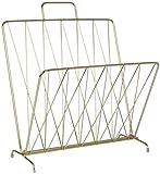 Present Time - Magazinständer - Zeitschriftenständer - Faltbar - Metall - Farbe: Gold - 40 x 27 x 56 cm