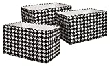 Best Lush Decor Home Fashion Kids - Lush Decor Houndstooth Fabric Covered 3 Piece Collapsible Review