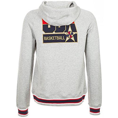 Nike sweat-shirt à capuche aW77 pour homme team ballon uSA sweat-shirt à capuche en polaire Gris - Gris