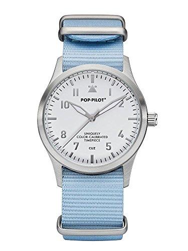 Pop Pilot Damen Analog Quarz Uhr mit Stoff Armband Cuz T04