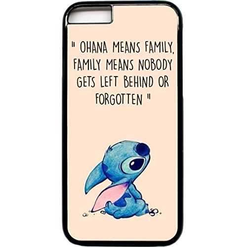 iPhone 6 Handy Fall Ohana means family Lilo Stich Zitat (Zitate Iphone 6 Wallet Case)