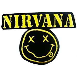 Ecusson brode Nirvana Patches Music Band Logo Embroidered Iron on Patch style05