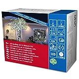 Konstsmide 3621-140 Micro LED Lichterkette/für Außen (IP44) / 24V Außentrafo / 24 kalt weiß funkelnde Dioden/schwarzes Kabel