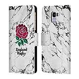 Head Case Designs Ufficiale England Rugby Union Bianco 2017/18 Marmoreo Cover a Portafoglio in Pelle per Samsung Galaxy J6 / On6 (2018)