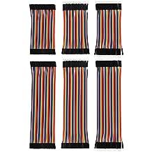240 Piezas Cables de Puente de Breadboard Kit de Cables Multicolor 80 Pin M/ M, 80 Pin M/ F, 80 Pin F/ F (10 cm y 20 cm), para Arduino