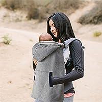 8a74229c4b64 Villexun Porte-bébé en forme de cape chaude avec poches Idéal pour l hiver