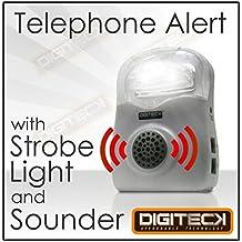 B1D FLASHING Telephone CALL ALERT RINGER Phone Amplifier Device Loud Speaker Impaired HEARING AID LIGHT for Elderly/Noisy Office/Warehouse