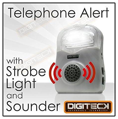 B1D FLASHING Telephone CALL ALERT RINGER Phone Amplifier Device Loud Speaker Impaired HEARING AID LIGHT for Elderly/Noisy