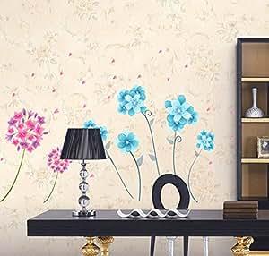 ufengke® Fiori Colorati Giacinto Adesivi Murali, Camera da Letto Soggiorno Adesivi da Parete Removibili/Stickers Murali/Decorazione Murale