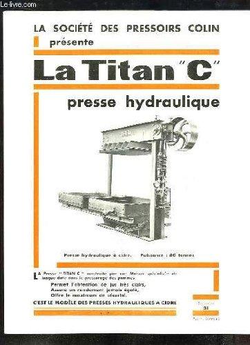 1 brochure publicitaire de La Titan \