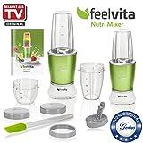 Genius Feelvita Nutri Mixer + Nutri Mixer Smart | 15 Teile | Stand-Mixer | Smoothie-Maker | Mixen | Rühren | 23000 UpM | 600 Watt | 1 Liter | Bekannt aus TV | NEU von Genius