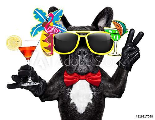 ocktail Party Dog #216117098 - Bild auf Forex-Platte - 3:2-60 x 40 cm / 40 x 60 cm ()